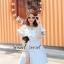 Lovely Light Blue Jeans Topper Lace Dress by Seoul Secret thumbnail 2