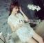 Lady Ribbon's Made Abigail Pretty and Sexy White Lace Mini Dress thumbnail 11