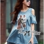 Lady Ribbon's Made Lady Alexa Sequin Horse Cut-out Denim Dress thumbnail 6