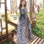 Cliona made' Lucy Charming Grey Summer Beach Long Dress thumbnail 2