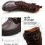 พร้อมส่ง รองเท้าบูทผู้ชาย รองเท้าหนัง PU แต่งกำมะหยี่ สีน้ำตาล แบบผู้เชือก มีสายรัดแข้ง ใส่เที่ยว ใส่ทำงาน ใส่สบาย thumbnail 12