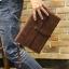 พร้อมส่ง กระเป๋าถือ กระเป๋าเอกสาร หนัง PU สีน้ำตาล ใส่เอกสาร ใส่โทรศัพท์ ใส่ ipad mini ได้ thumbnail 4