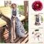 Cliona made' Lucy Charming Grey Summer Beach Long Dress thumbnail 5