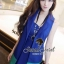 Modish Vivid Blue Set Singlet Inner and Long Suite Outer by Seoul Secret thumbnail 4