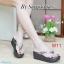 รองเท้าแตะส้นเตารีดแบบหูคีบประดับอะไหล่กลมด้านหน้า thumbnail 3