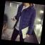พร้อมส่ง เสื้อกันหนาว สีน้ำเงิน ทรงบับเบิล มีฮู้ด ซิปหน้า ปิดด้วยกระดุม กระเป๋าข้างใช้งานได้ thumbnail 3