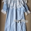 Lady Ribbon's Made Lady Sophia Pretty Baby Doll Lace Insert Dress in Blue thumbnail 4
