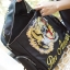Tiger and Slogan Embroidered canvas backpack thumbnail 4