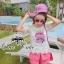 Crytal perfume lace t-shirt and pink shorts&#x2605 thumbnail 3