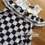 Lady Ribbon's Made Lady Isabella Smart Off-Shoulder Check Printed Cotton Dress thumbnail 7