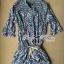 Lady Ribbon's Made Lady Ribbon Aqua Bohemian Print Mini dress thumbnail 4