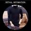 พร้อมส่ง เสื้อไหมพรม คอเต่า สีดำ ลายเชือก แขนยาวปลายจั๊ม ใส่กันลม ใส่กันหนาว thumbnail 2