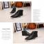 รองเท้าแฟชั่นผู้ชาย พรีออร์เดอร์ รองเท้าหนัง สีดำ ผูกเชือก ใส่เที่ยว ใส่ทำงาน thumbnail 6