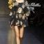 Black Golden Printed Mini dress thumbnail 2