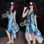(ส่งฟรี EMS) Sevy Bohemian Satin Classy On The Beach Dress thumbnail 1