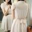 Mini Dress Lace Chiifon With Belt 2 Color Style Korea thumbnail 5