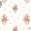 วอลเปเปอร์ลายพุ่มดอกไม้ดอกชมพูฟ้าใบเขียวพื้นสีขาวอมทอง GAR3-B34W thumbnail 1