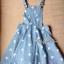 Lady Ribbon's Made Denim Jumper Skirt, Cross Print thumbnail 4