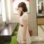 Mini Dress Lace Chiifon With Belt 2 Color Style Korea thumbnail 3