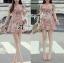 Lady Ribbon's Made Lady Rosie Sweet Flowery Chiffon Mini Dress thumbnail 3