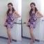 Brand:Varithorn@Violet purple Ruffle top wz Skirt violet purple Set thumbnail 4