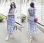 Lady Ribbon's Made Lady Helena Summer Seductive Check Printed Maxi Dress thumbnail 3
