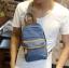 กระเป๋าคาดอก พร้อมส่ง สีดำ / สีน้ำเงิน ผ้าแคนวาส thumbnail 1