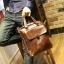 พร้อมส่ง กระเป๋าสะพายข้าง สีน้ำตาล กระเป๋าถือใส่เอกสาร ผู้ชาย เท่ห์มาก thumbnail 3
