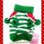 เสื้อน้องหมา ไหมพรมคริสมาสต์ สีเขียว-ขาว พร้อมส่ง thumbnail 2