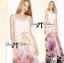 Lady Ribbon's Made Lady Vanessa Summer Colourful Floral Printed Long Dress thumbnail 1