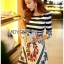 Lady Jennifer Casual Chic Striped and Floral Printed Dress thumbnail 7