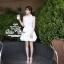푸싱데이지 Pure white lily mini dress thumbnail 2
