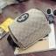 กระเป๋าเป้ทรงหลังเต่า ดีไซน์ casual เรียบหรูสไตล์แบรนด์ วัสดุผ้าเนื้อดีทอผสมดิ้นทองขึ้นลายแต่งขอบหนัง thumbnail 4