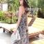 Cliona made' Lucy Charming Grey Summer Beach Long Dress thumbnail 7