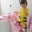 บันไดฝารองนั่งชักโครก สำหรับเด็ก (#สีชมพูสีเดียว) สินค้า Baby Step Toilet Seat Giraffe thumbnail 4