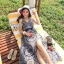 Cliona made' Lucy Charming Grey Summer Beach Long Dress thumbnail 4