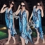 (ส่งฟรี EMS) Sevy Bohemian Satin Classy On The Beach Dress thumbnail 7
