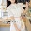Lady Ribbon's Made Lady Jennifer Sweet Button Down Organza Lace Dress thumbnail 3