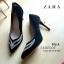 รองเท้าส้นสูง STYLE ZARA คัชชูส้นเข็ม สูง 4 นิ้ว ด้านหน้าติดเพชรสวยงาม thumbnail 5