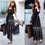 Jolie By D-Sai JumpSuit Chiffon Stripe White & Black Style Korea thumbnail 1