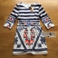 Lady Jennifer Casual Chic Striped and Floral Printed Dress thumbnail 11