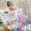 Pastel flowers paint maxi dress thumbnail 3
