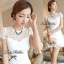 Lady Ribbon's Made Lady Pure White Blossom Embroidery Gala Mini Dress thumbnail 4