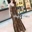 (ส่งฟรี EMS) Lady Ribbon's Made Lady Dita Sexy Leopard Printed Maxi Dress thumbnail 1