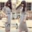 Lady Ribbon's Made Jersey Stripe Slip Dress thumbnail 1