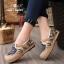 รองเท้าผ้าทอลายกราฟฟิคเก๋ ๆ นนิ่มมาก และทนมากเพราะส้นทำจากยางพารา thumbnail 2