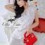 Elegant white lace dress thumbnail 2