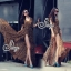 (ส่งฟรี EMS) Sevy Hi-End Leopard V-Neck Open Leg Maxi Dress thumbnail 1