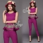 Sevy Two Pieces Of Flouncing Gold Embroidered Sleeveless Top With Feet Pants Suit Sets thumbnail 11