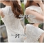 Lady Ribbon's Made Lady Jessica Classic Lace Dress in Ivory thumbnail 10